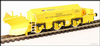 Hattons H4-BH-005 Beilhack snow plough (ex Class 45) ZZA ADB966098 in BR yellow with NSE Branding